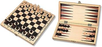 Hot Ajedrez, Mujer, Juego de Backgammon de Madera en la Caja ...