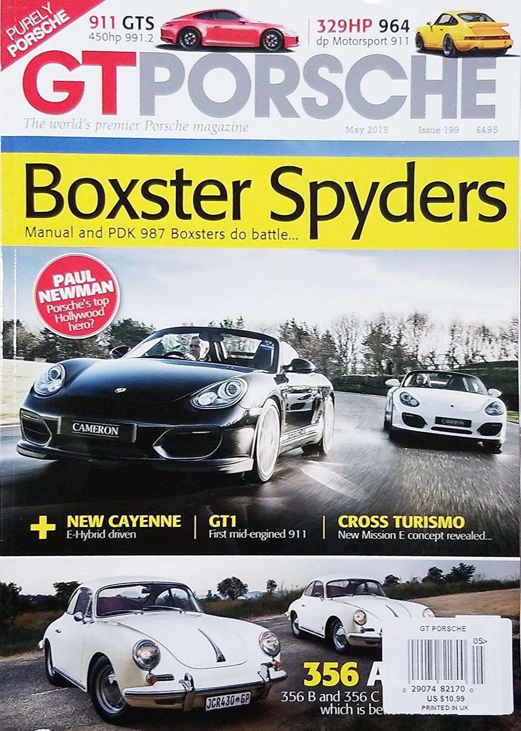 GT PORSCHE BOXSTER SPYDERS MAY 2018 ISSUE 199^ s3457