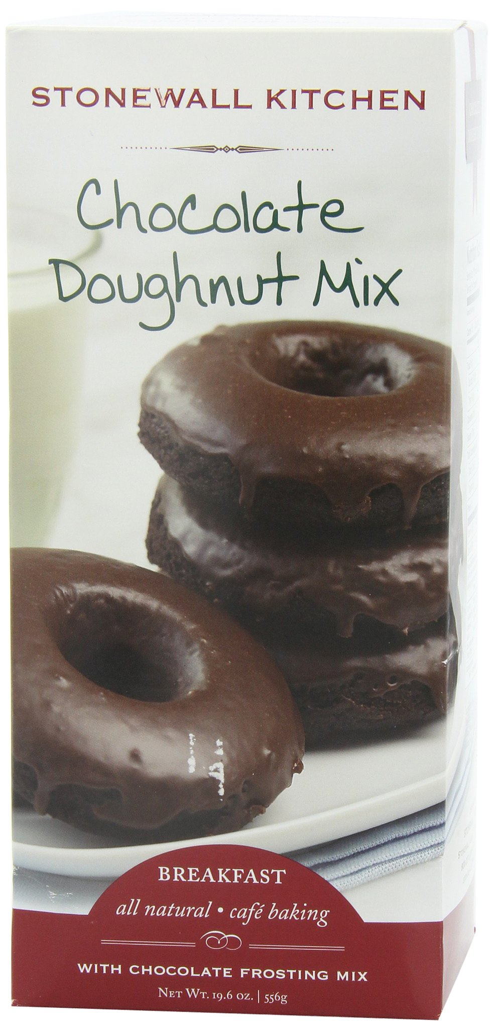 Stonewall Kitchen Chocolate Doughnut with Chocolate Frosting Mix, 19.6-Ounce (Pack of 2)
