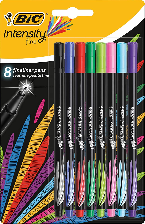 Bl/íster de 20 unidades BIC Intensity Fine colores surtidos rotulador punta fina 0,8 mm