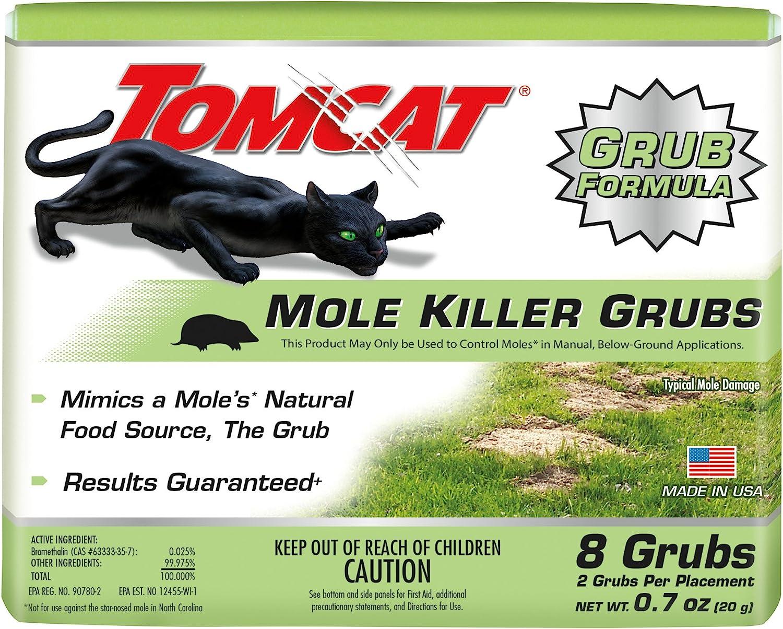 Tomcat Mole Killer Grubs, 8 Pack