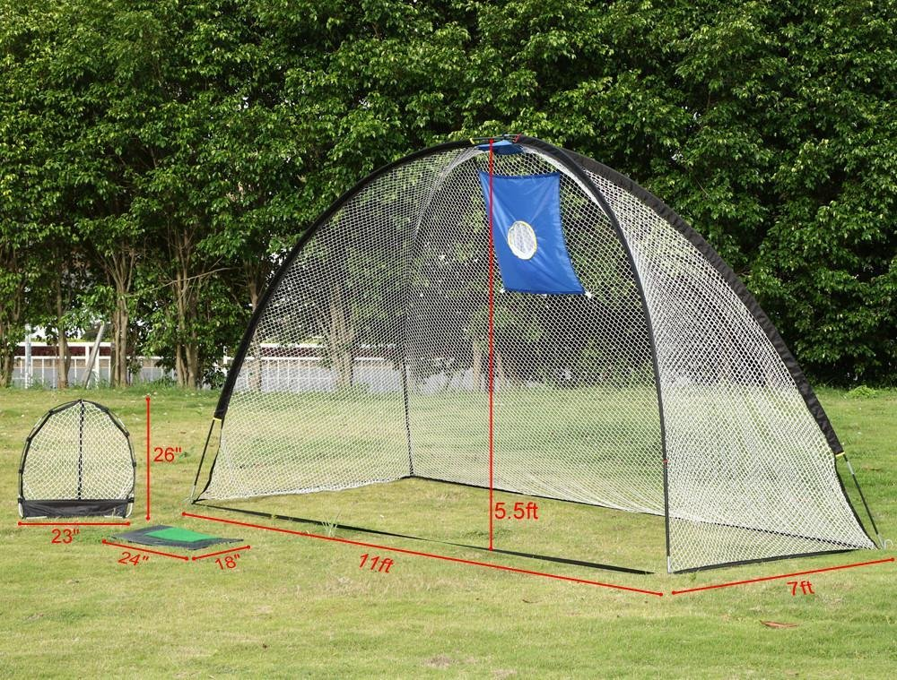 Yaheetech 3 in 1 Golf Practice Set Training Set Mat Driving Net Chipping Net- free 4 Nails by Yaheetech (Image #3)