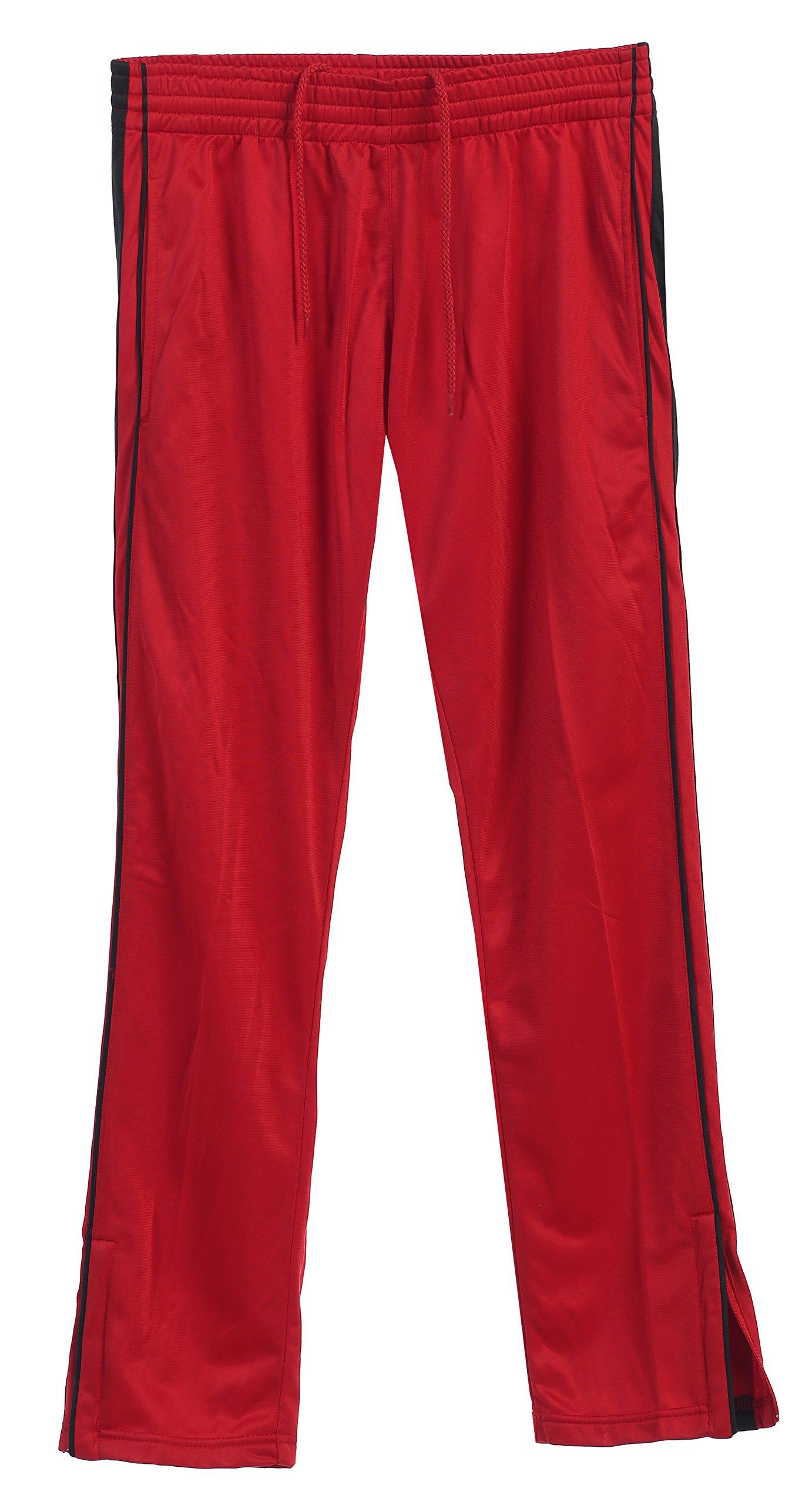 Gioberti Men's Athletic Track Pants, Red, Small