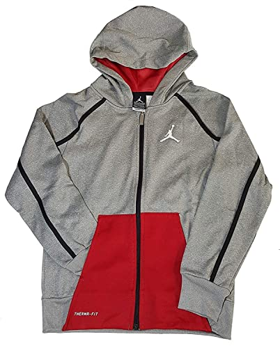 3c1475383f3 Nike Youth/Kid's Air Jordan Therma-fit Full Zip Hoodie  (6/110~116CM/5~6YRS/Youth M, Dark Gray Heather): Buy Online at Low Prices  in India - Amazon.in