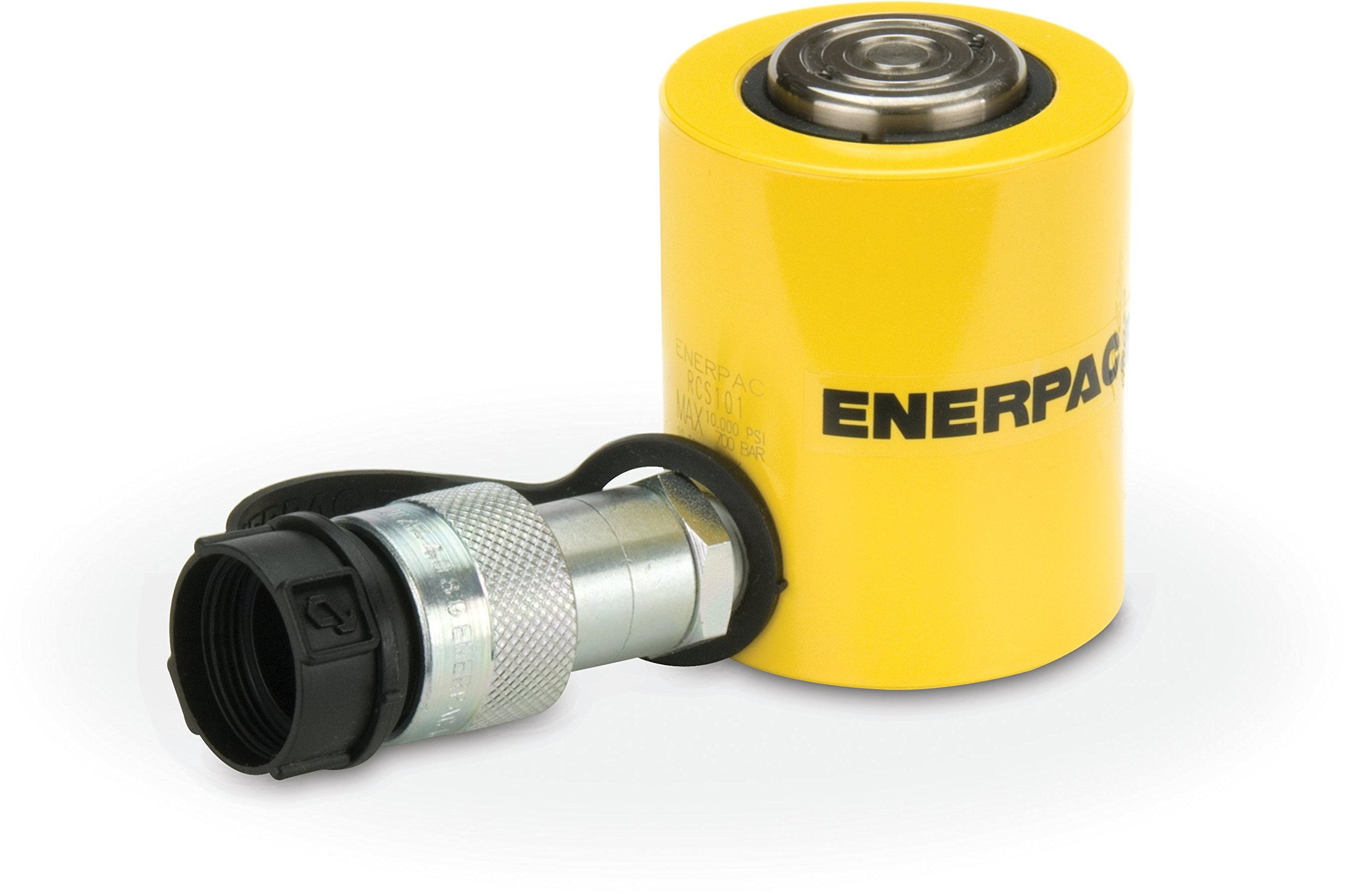 Enerpac RCS-101 Single-Acting Low-Height Hydraulic Cylinder with 10 Ton Capacity, Single Port, 1.5'' Stroke Length