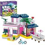 Dream Girls Friends Beach House Building Sets Seaside Villa Building Toys 360 Pieces Girls Beach Hut Building Kit for Kids Ag