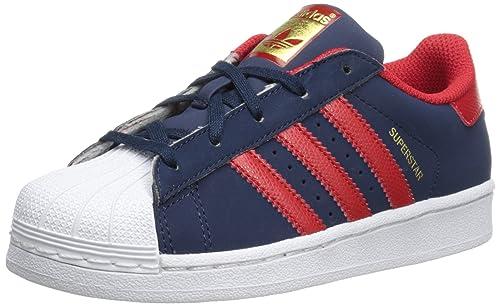 adidas C77154 - Botines de Cuero para Chico, Color Azul, Talla 18 EU Niño Pequeño: Amazon.es: Zapatos y complementos