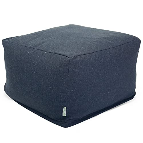 Majestic Home Goods Wales Ottoman, Large, Navy