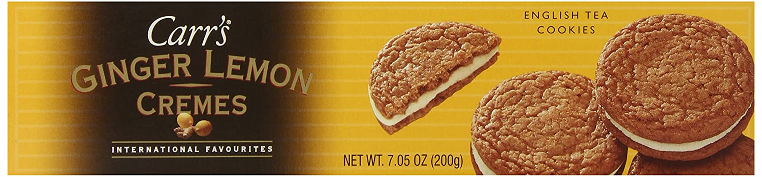 Carrs Cookie Ginger Lemon Creme -7.05 Ounce Boxes (Pack of 6)