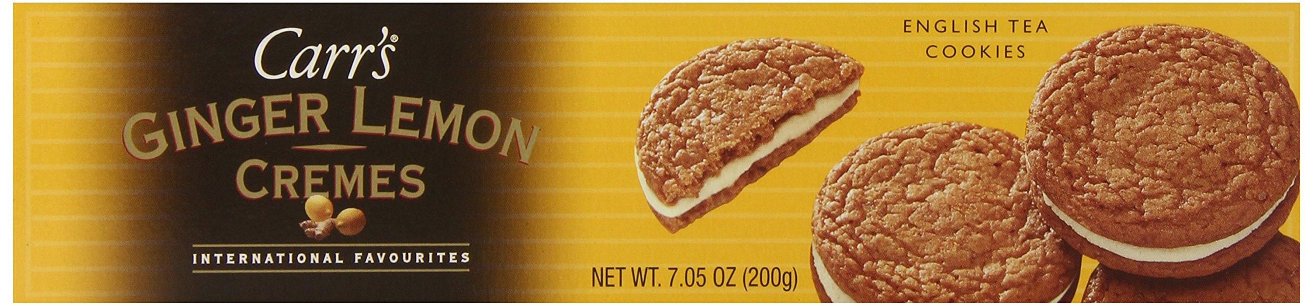 Carrs Cookies, Ginger Lemon Creme, 7.05-Ounce.