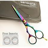Titanium Hair Scissors, Hairdressing Scissors (5.5inch /14cm) with Presentation Case