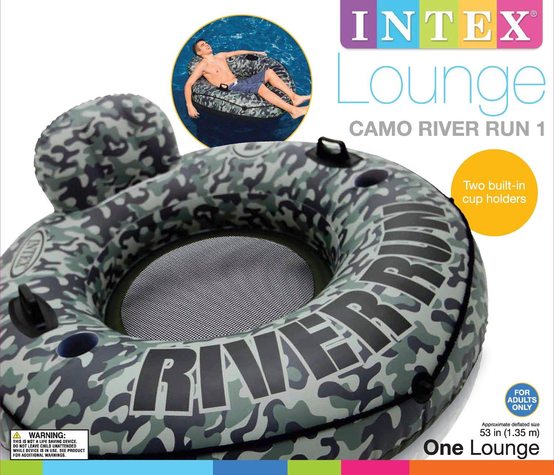 Intex Camo River Run I Inflatable Floating Tube Raft (2 Pack) | 58835EP by Intex (Image #5)