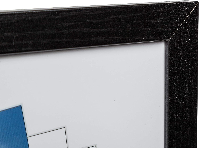 Hampton Frames Qualit/é Oxford Noir Bois a2 42x59 cm Certificat Cadre Photo Aucun /écran d/'Ouverture de Verre OXFA2NG