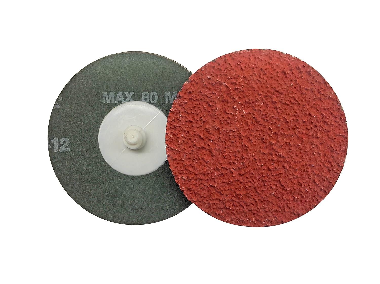 150175 Pack of 25 VSM Abrasives Co VSM 2 Quick Change Resin Fiber Disc Quick Change Type R XF885 Ceramic+ Fiber Backing 120 Grit