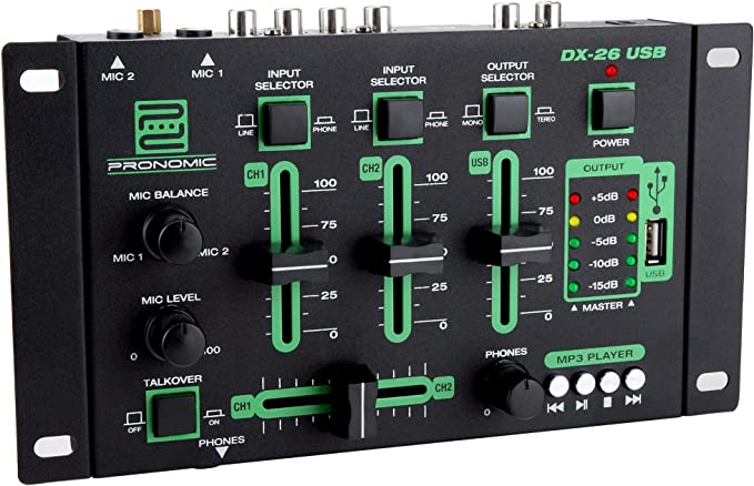 Pronomic DJ Mixer DX-26 USB: Amazon.es: Instrumentos musicales