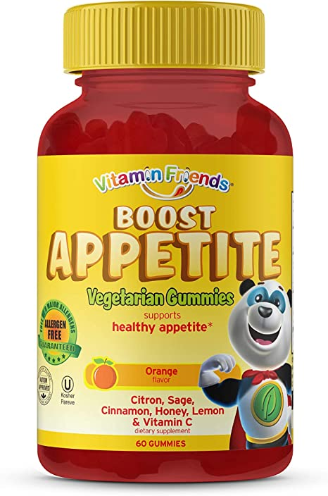 Amazon.com: Vitamin Friends All Natural Vegan Children's Appetite Stimulant  and Weight Gainer with Boost Appetite Gummies, 1 Pack, 60 Count, Orange  Flavor Vitamin: Health & Personal Care