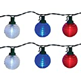 Brite Star Patriotic Shimmer Globe LED Light Set