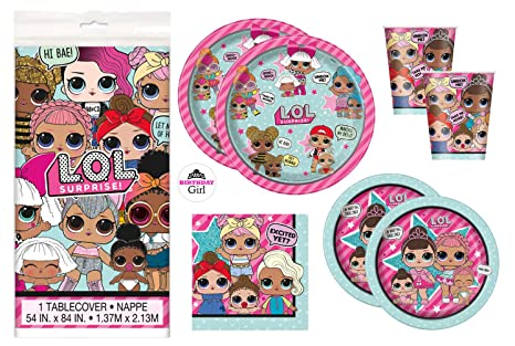 Amazon Com Lol Surprise Doll Birthday Party Supplies Set Dinner