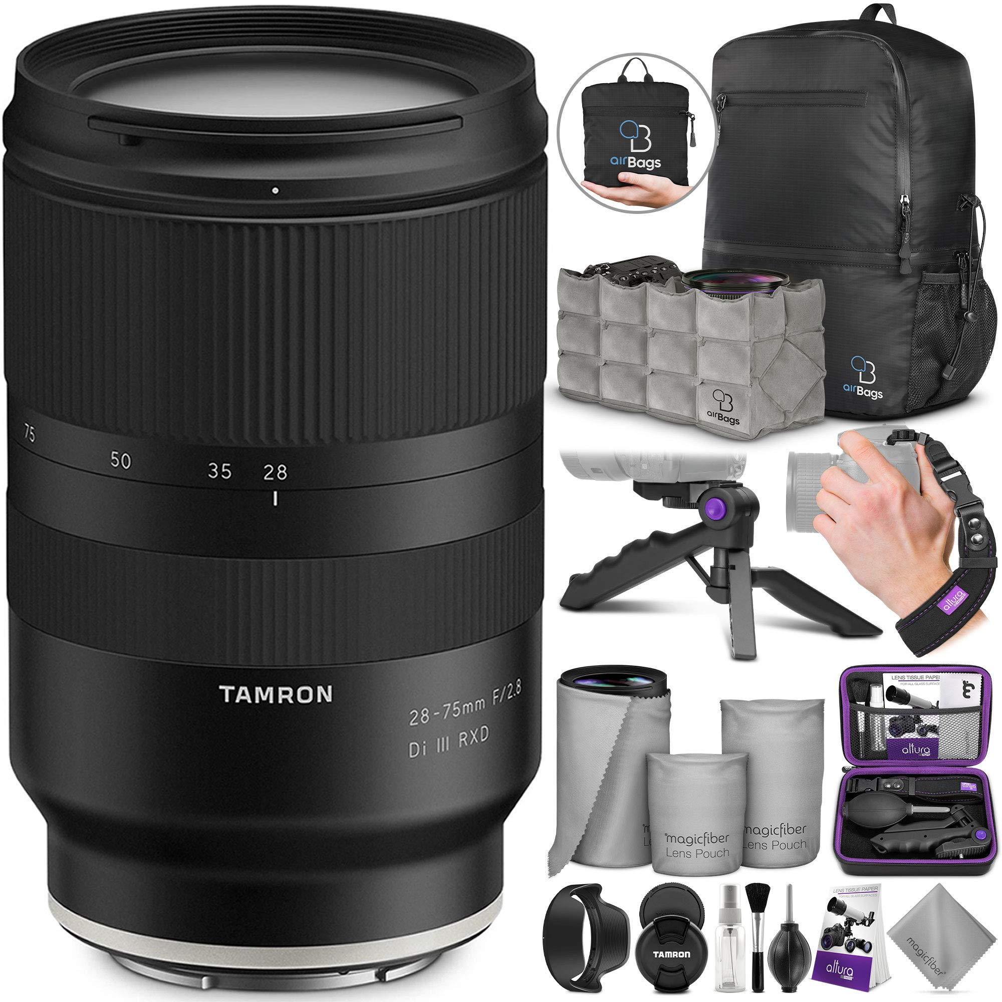 Tamron 28-75mm f/2.8 Di III RXD Lens for Sony E Mount Cameras with Altura Photo Essential Accessory and Travel Bundle by Tamron
