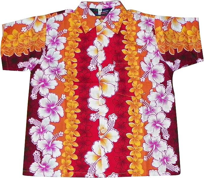Generic Mens Vintage Flower Print Hibiscus Short Sleeve Hawaiian Shirt
