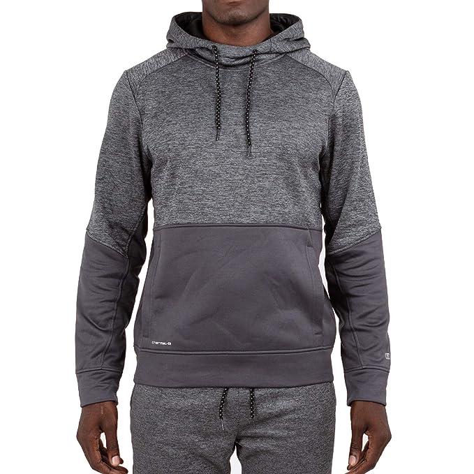 8bbca0bec9b2a Layer 8 Men's Performance Sport Tech Fleece Athletic Hoodie (Medium, Grey  Pinstripe Heather)