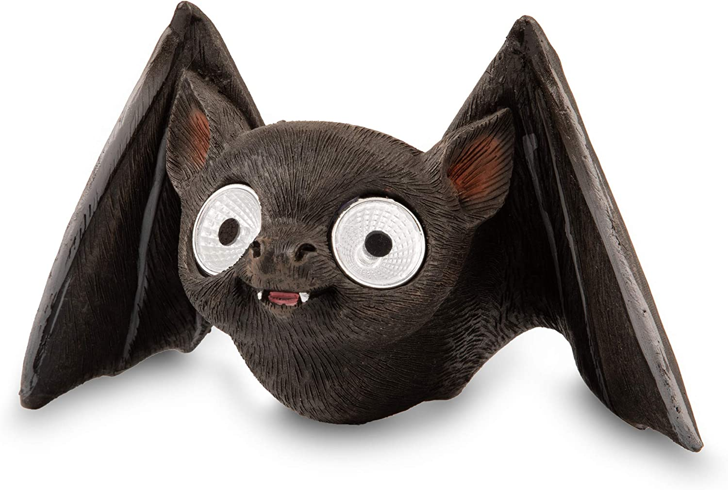 Solar Garden Baby Bat Decoration | Outdoor Yard Decor - Lawn Ornaments | Solar Decorative Lights for Patio, Balcony, Deck | Weather Resistant - LED | Housewarming Gift | Auto On/Off (Black)