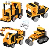 Remote Control Building Kits for Boy Gifts, TOYARD STEM Robot Kit Building Toys for 5/6/7 Year Old Boy Gifts Best Educational Building Blocks