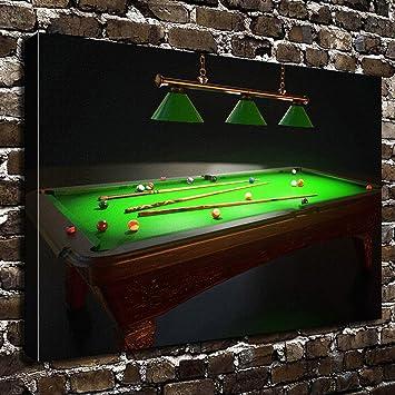 Amazon.com: COLORSFORU Wall Art Painting Billiards Prints On Canvas ...