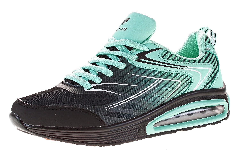 Roadstar Zapatos con Cordones Mujer 38 EU negro / azul