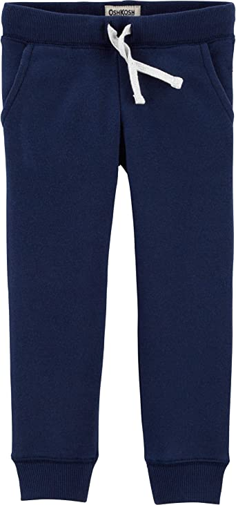 Oshkosh B/'gosh Toddler Sweat Pants Drawstring Waist Navy Blue No.1 Logo NWT