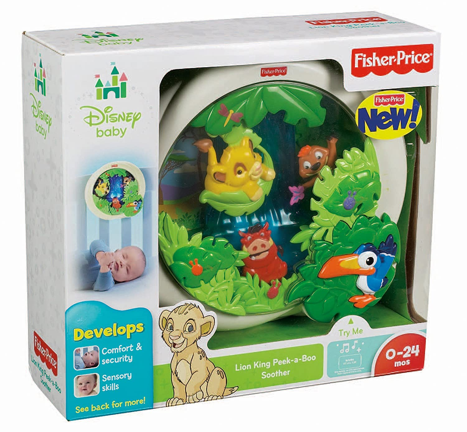Amazon Fisher Price Disney Baby Lion King Peek a Boo Soother