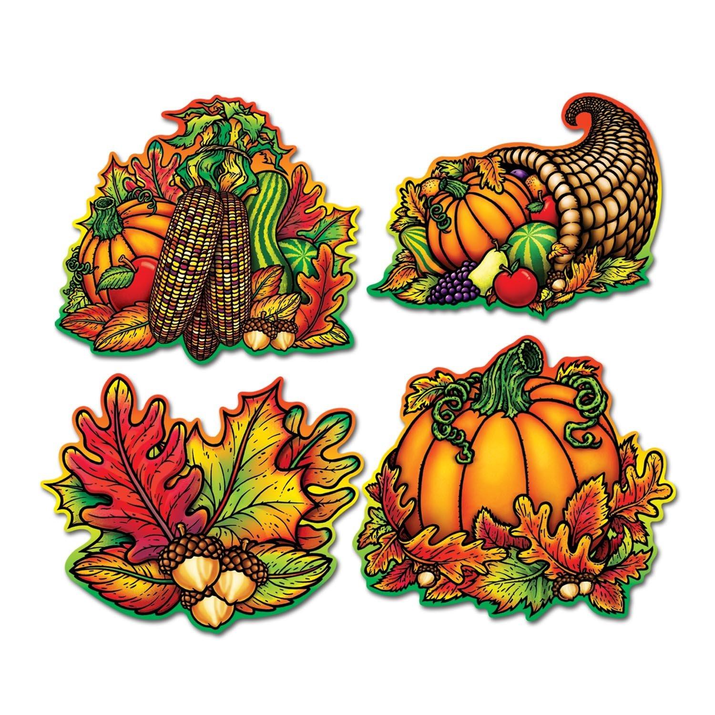 12 Pack Beistle Pkgd Autumn Splendor Cutouts