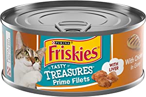 Purina Friskies Pate Wet Cat Food; Tasty Treasures