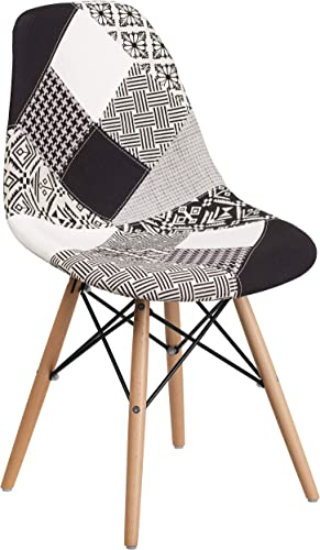 EMMA OLIVER Turin Patchwork Fabric Chair