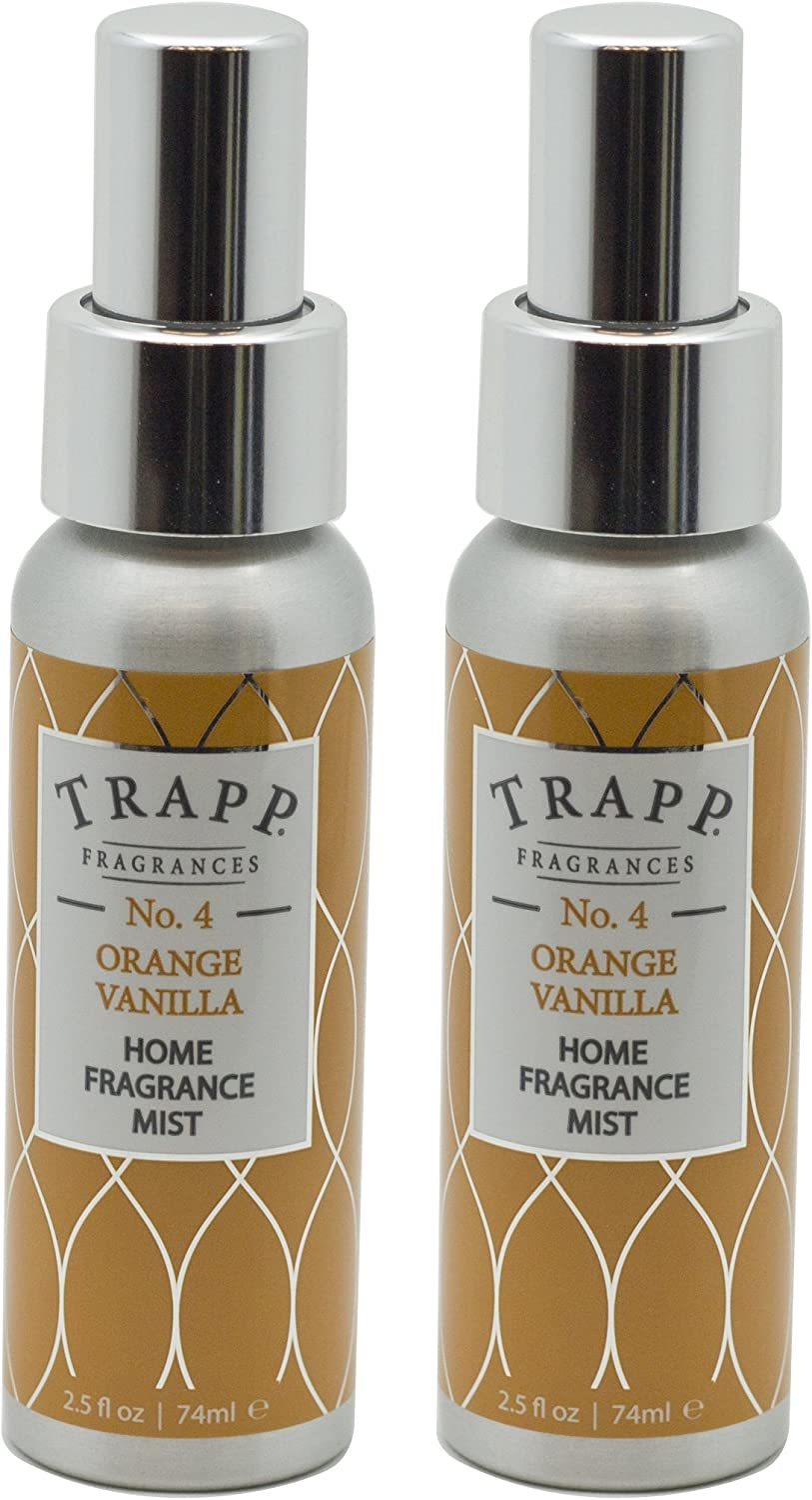 Trapp Home Fragrance Mist, No. 4 Orange/Vanilla, 2.5-Ounce (2-Pack)