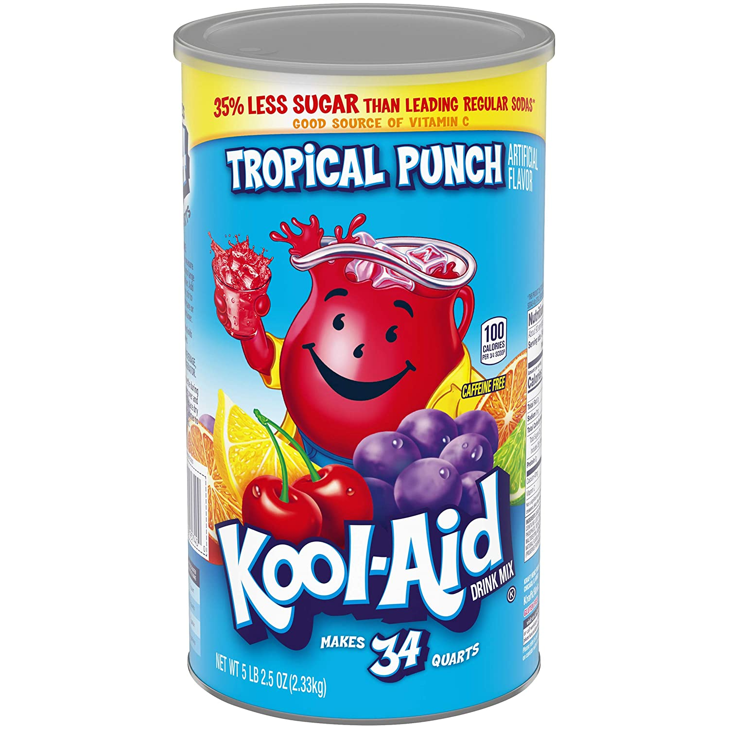 Kool Aid Tropical Punch Powdered Drink Mix (5Lb 2.5oz Canister)