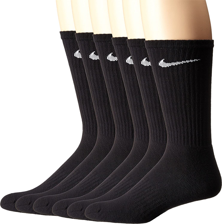 77b00670d Amazon.com: NIKE Performance Cushion Crew Socks with Band (6 Pairs): NIKE:  Clothing