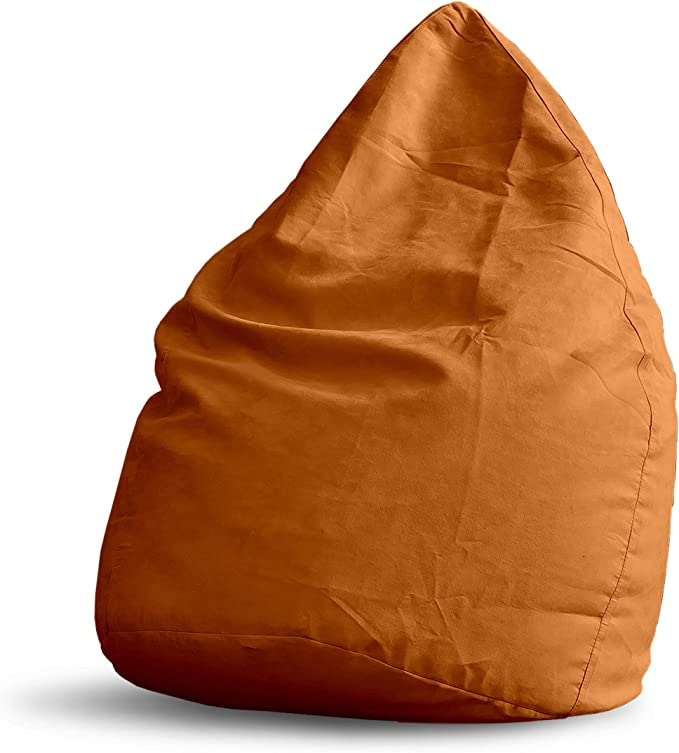 Imagen deLumaland Beanbag PUF otomano Puff XL Plus Comfortline 220 lt Relleno Costura Reforzada Naranja