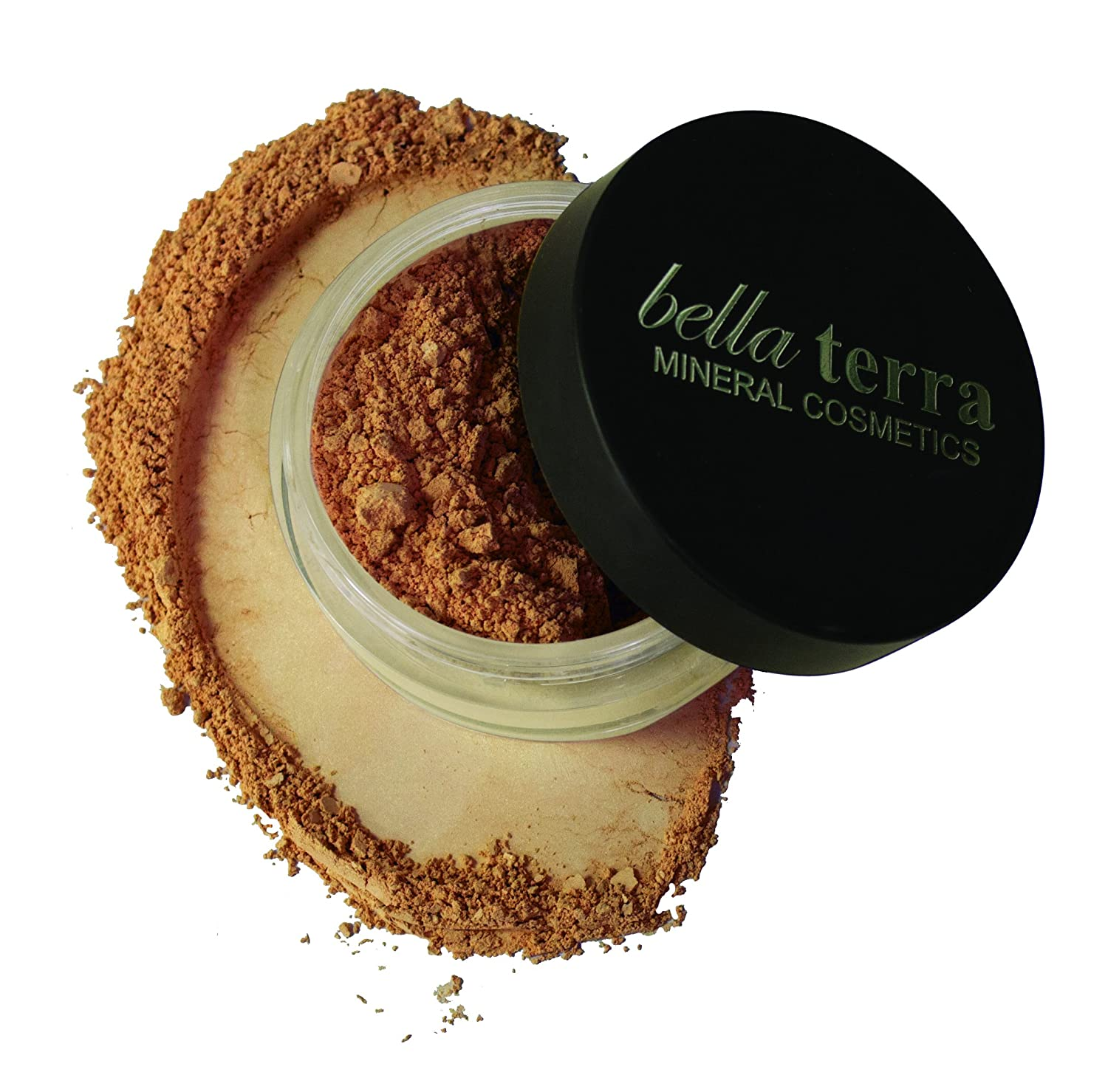 Bella Terra Mineral Powder Foundation | Long-Lasting All-Day Wear | Buildable Sheer to Full Coverage – Matte | Sensitive Skin Approved | Natural SPF 15 (Cafe) 9 grams