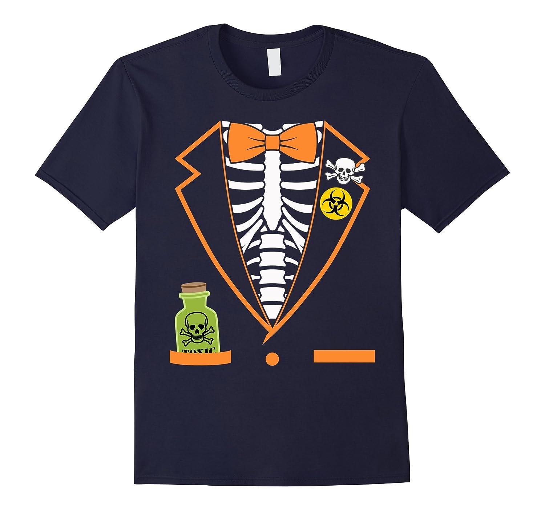 Skeleton Tuxedo Spooky Funny Halloween T-Shirt-BN