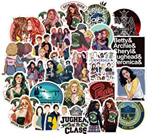 50pcs America Drama Riverdale Stickers for Water Bottles Laptop Motorcycle Bicycle Skateboard Luggage Decal Graffiti Patches Stickers