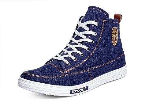 44fca92c7e0744 Rockfield Men's Denim Sneakers Casual Shoes: Buy Online at Low ...