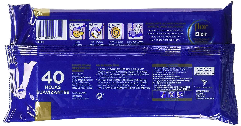 Flor - Suavizante acondicionador especial para secadoras - 40 hojas: Amazon.es: Alimentación y bebidas
