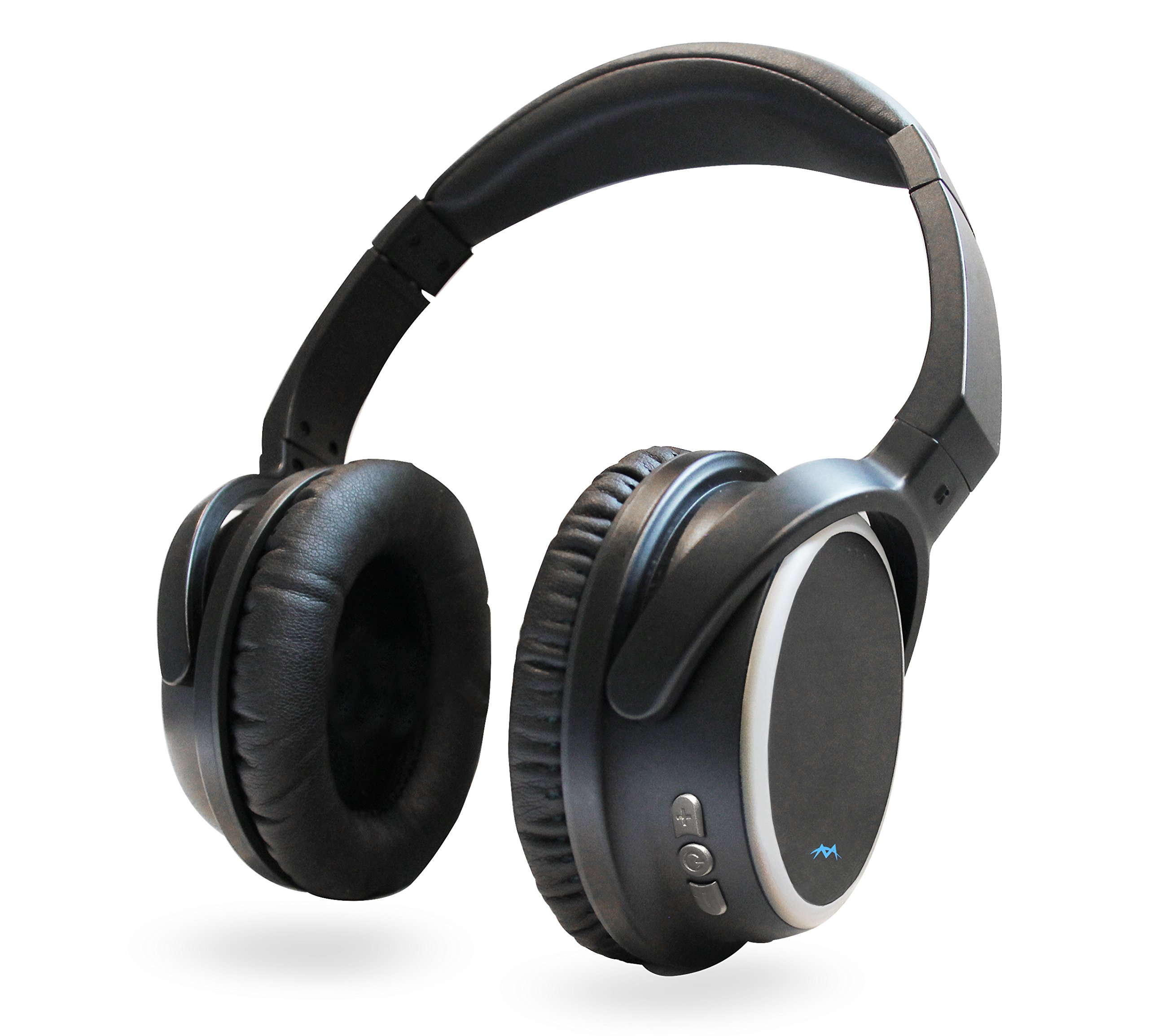 Miccus [Upgraded] aptX TV Bluetooth Headphones v4.2 Over Ear, Listen in HD NO DELAY, Low Latency, Noise Isolating Wireless Headset with Mic for iPhone Computer PC Work Travel Foldable (SR-71 Stealth)