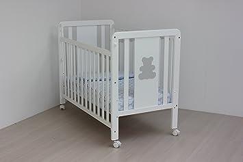Kinderbett holz weiß 60 x 120 seitlich klappbar 2 etagen: amazon.de