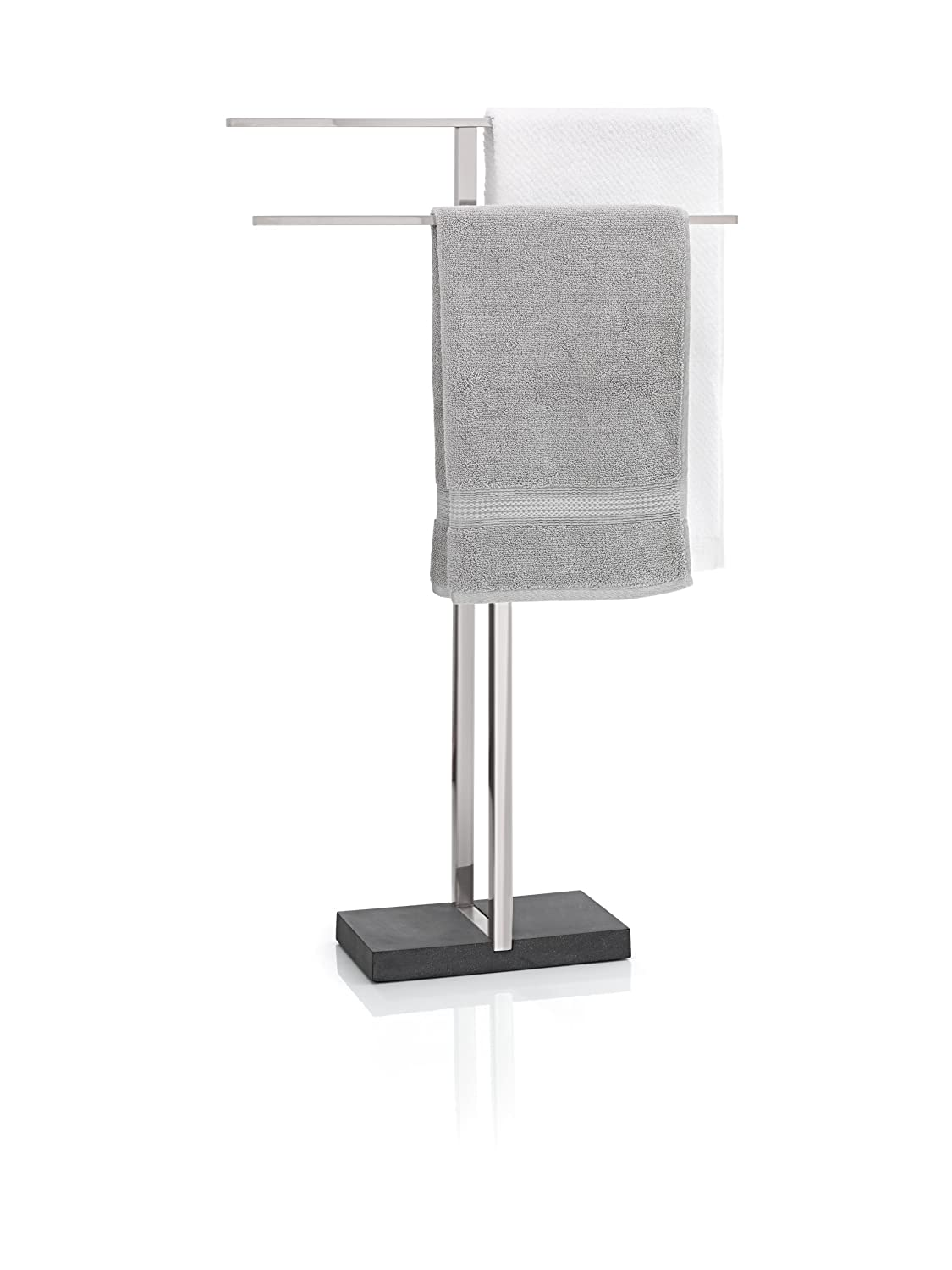 blomus 68624 Towel Rack with Polystone Base BLAU9