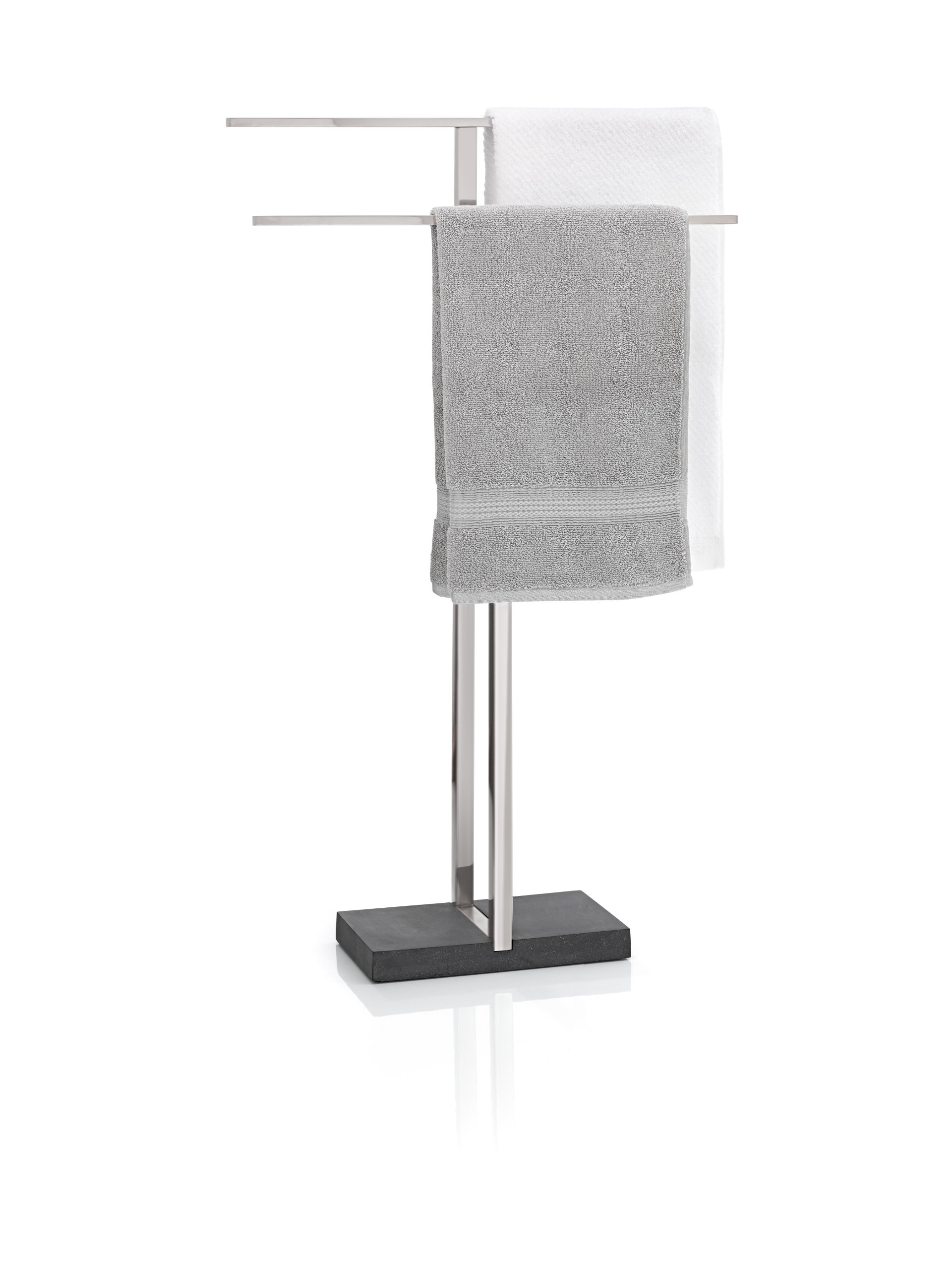 blomus 68624 Towel Rack with Polystone Base