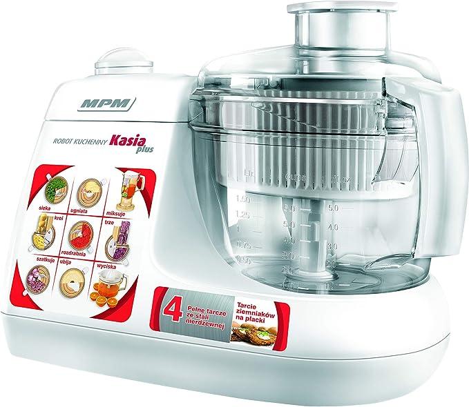 MPM MRK-11 Robot de Cocina, 800 W, 1.5 litros, Acero Inoxidable, Blanco: Amazon.es: Hogar