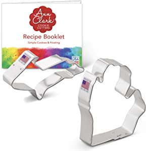 Ann Clark Cookie Cutters 2-Piece Upper and Lower Michigan Cookie Cutter Set with Recipe Booklet