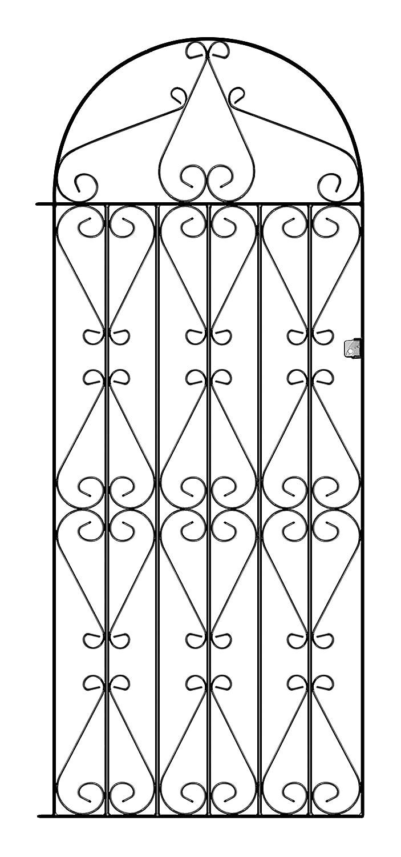 REGENT Tall Scroll Side Garden Gates Mm GAP X Mm H - Garden gate for sale